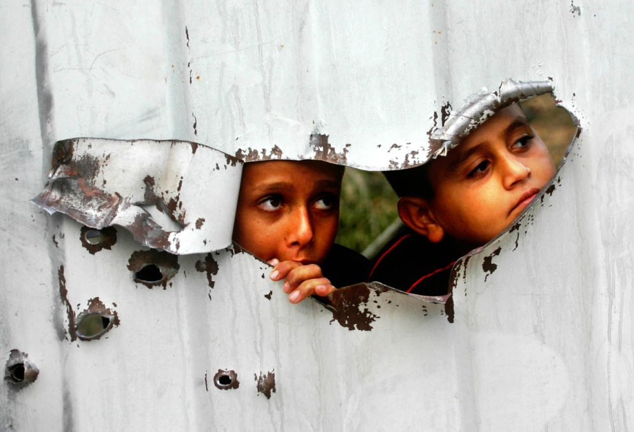 Palestinian kids are seen